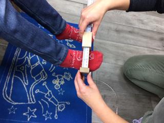 足の非荷重位計測